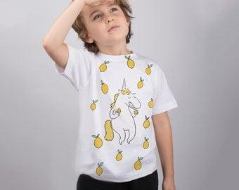 Unicorn Shirt Cute Shirt Pegasus Shirt Lemon Girl Shirt Design Tee Graphic Outfit Child Shirt Printed Shirt Girls Monogram Shirt PA1077