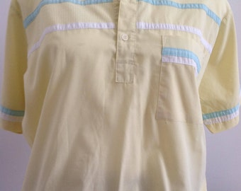 normcore jaune Papy polo shirt