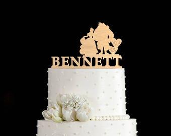 Beauty and beast cake,beauty and beast wedding,beauty and the beast wedding cake,beauty and beast cake topper,beauty and the beast,5612017