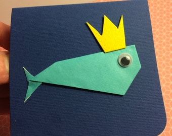 EphemeraCard: Whale with Crown