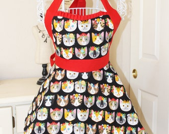 The Here and Meow Kitty Lovers Apron