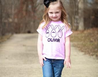 Kids easter shirt, personalized shirt, name shirt, bunny shirt, fancy bunnies, bowtie shirt, mustache shirt, monocle shirt, rabbit shirt