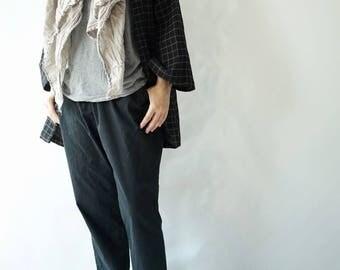 Kimono Cardigan -Drop Shoulder Sleeves-Loose Cardigan-Double Gauze Cotton Jacket