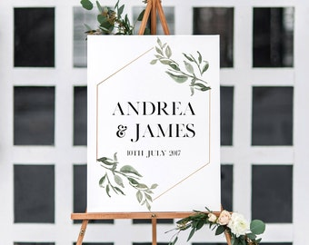 Wedding Welcome Sign, Wedding Menu Sign, Wedding Seating Chart, The Andrea Suite, Printable Sign, Printable Wedding Sign, Wedding Suite