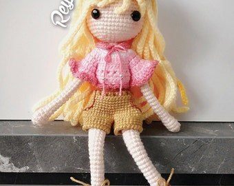 Crochet Doll Pattern - Reyla 蕊拉