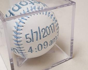 Baby Birth Announcement Baseball