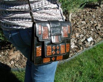 Leather bag, black leather bag, leather bag for women, womens leather bag, leather shoulder bag, black leather shoulder bag, leather purse