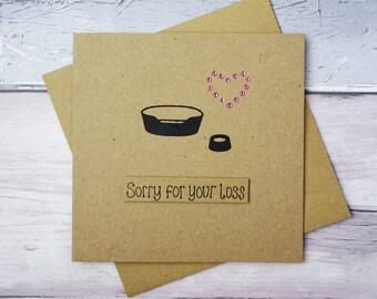 Pet sympathy card, Thinking of you card, Handmade loss of a dog card, Dog condolences card, Death of a pet card, With sympathy dog card