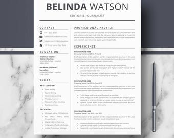 professional resume cv template modern