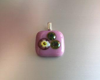 Glass Pendant-Jewelry-necklace-Gift woman-gift women-schmuck Frau-chain-necklace-Jewelry-pendant-spectrum glass-lifestyle-fashion woman-Millefiori