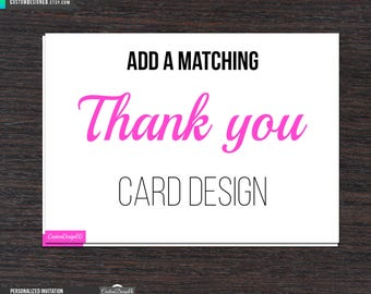 Matching Thank You Cards Add On - Matching Thank You