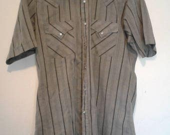 Vintage Ely Cattleman Large 16 Short Sleeve