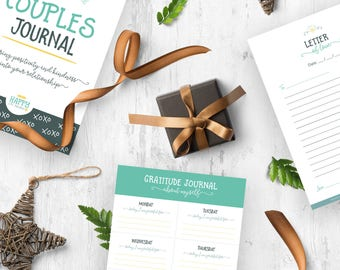 Couples Journal, Gift for Her, Gift for Boyfriend, Relationship, Anniversary Gift, Gratitude Journal, Affirmations, Printable Planner