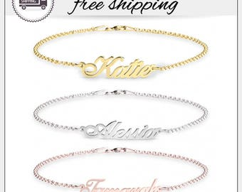 25% OFF • Personalized Name Bracelet • Sterling Silver Bracelet • Bridesmaids Gift • Christmas Gift • Baby Name Bracelet • Birthday Gift