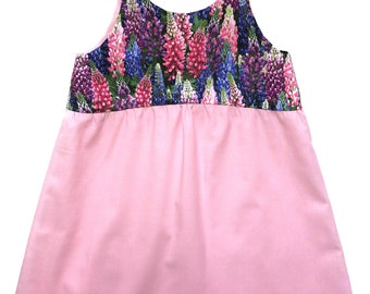 Floral and pink girls dress