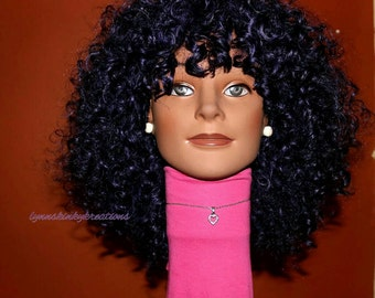 "READY TO SHIP // Human hair blend wig ""Purple Queen"""