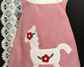 Vintage  Baby Swing Shift Dress with Applique i