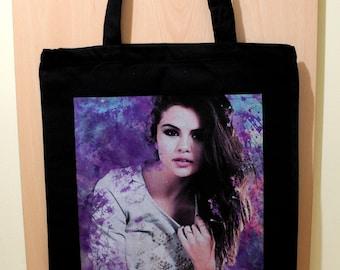 Selena Gomez Bag, Selena Gomez Cotton Bag, Selena Gomez Fan Gift, Selena Gomez Printed Bag, Shopping Cotton Bag, Market Cotton Tote Bag