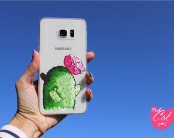 Clear Cactus case Galaxy J7 case Galaxy J3 Galaxy J2 Galaxy J5 Galaxy J7 V J7 Sky Pro J7 Perx Galaxy J3 Prime J3 Emerge phone case J7 2017