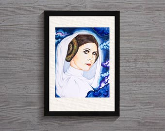 "Princess Leia Art Print:  ""One With the Force"""
