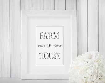 Farm House Printable | Farm House Decor | Wall Art | Digital Print | Print