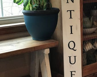 Tall Antiques Wooden Paint Signs