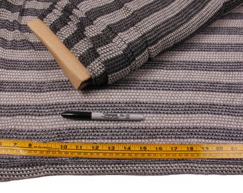5 Yards, Fabric, Gray Stripes, Lightweight Knit, Hints of Silver Sparkle
