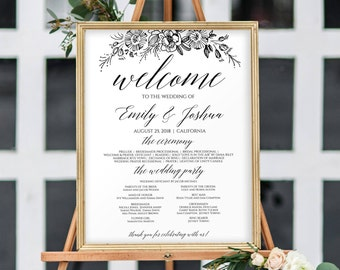 Wedding Program Sign Ceremony With Party