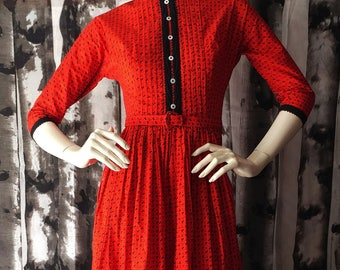 Red Rooster Folk Dress