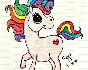 Rainbow Unicorn print