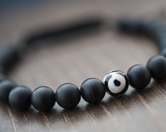 Mens Shamballa Bracelet Mens Jewelry Mens Bracelet Amulet Bracelet Protection Bracelet Mala Bracelet Healing Bracelet Black Onyx Bracelet