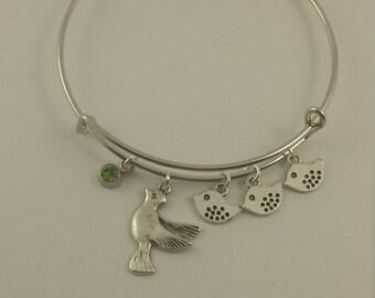 Motherbird charm bangle