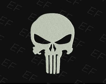 Machine Embroidery design - Punisher Embroidery design (fill stich) - instant download digital file