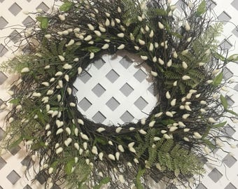 White Spring Wreath