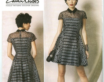 V1484 Vogue - Zandra Rhodes Misses Lined Princess Seamed Dress, - NEW Sewing pattern Sz. E5 14-16-18-20-22