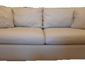 Grace Sofa in Natural Canvas Fabric - Customization Available