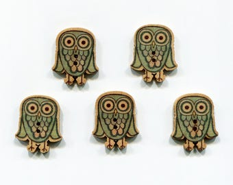 5 buttons * OWL / OWL * wood