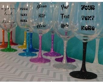 Custom wine glass, Bridal shower gift, Maid of honor gift, Bridal gift, Custom bridal gift, Personalized bridesmaid, Personalized wine glass