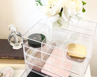 Dara Acrylic Organizer - Vanity Table - Acrylic Display - Beauty Organizer - Make up Organizer - Acrylic Drawers