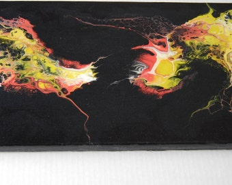 Abstract Black Negative Space Painting, Canvas Wall Art Decor
