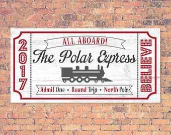 Polar Express Ticket, Polar Express, Fixer Upper Christmas SVG, Joanna Gaines Christmas Vector, Magnolia Farms, Stencil, Print, Sign