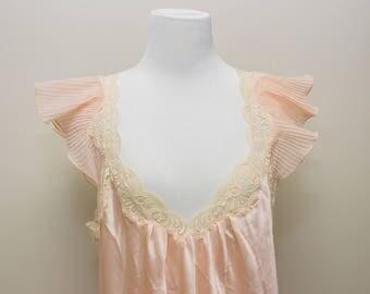 Gorgeous Vintage Christian Dior Pink Satin Night Gown