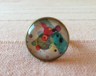 Kandinsky ring circles in a circle