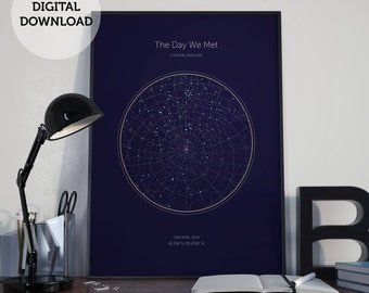 Personalized Gift | Christmas Gift | Custom Star Map | Unique Gift for Christmas | Personalized Night Sky Map