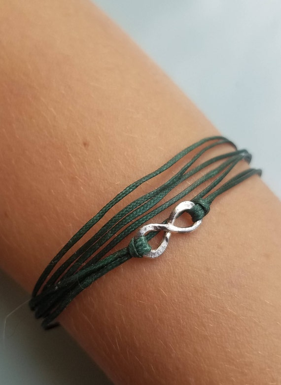 Oia: Silver, custom fitted, Greek Cord Bracelet