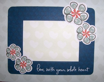 Love with your whole heart greeting card