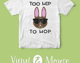 Hip Easter Bunny SVG Cutfile, Cricut Cameo svg dxf png, Bunny Glasses svg, boys Easter svg, funny easter svg, Easter dxf, Easter Iron On