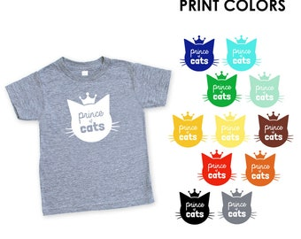 Prince of Cats Triblend TShirt in Heather Grey - Infant and Toddler Sizes -  Cat Lover, Cat People, Expecting, Matching, Boy