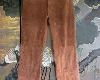 80's Brown Suede Pants - New Frontier - 80's vintage pants - southwestern suede pants - country western suede pants - boho - troppobella