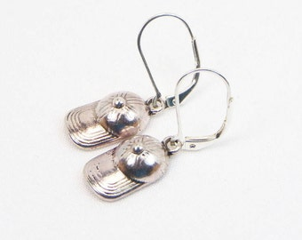 Baseball Cap Earrings - Baseball Jewelry - Ball Lover - Sports Gift - Dangle Earrings - Gift For Her